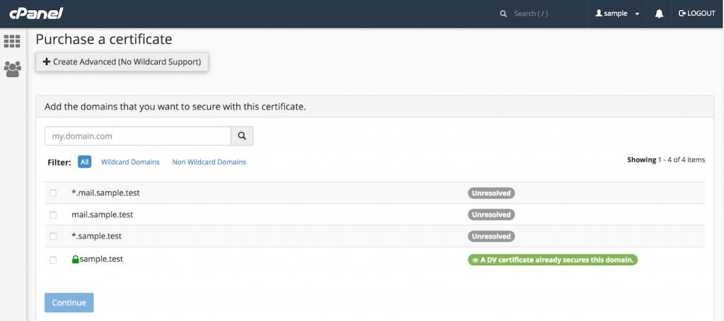 مجوز SSL برای cPanel