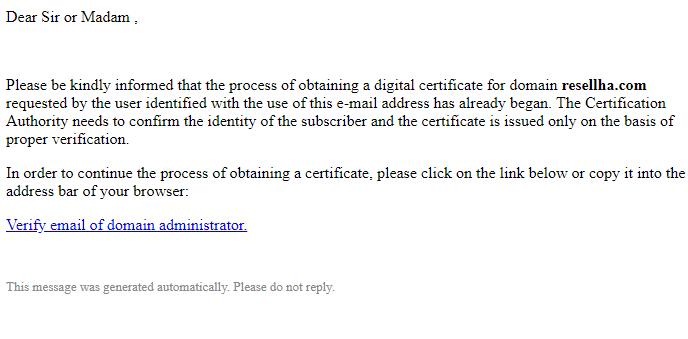 تایید گواهی SSL برای ادرس باز سبز