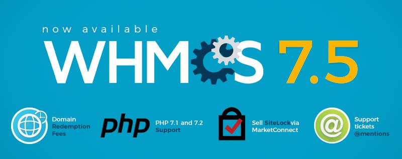 نسخه WHMCS 7.5  منتشر شد